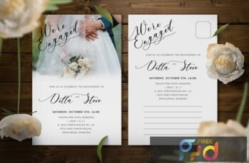 Engagement Invitation DD344BG 3
