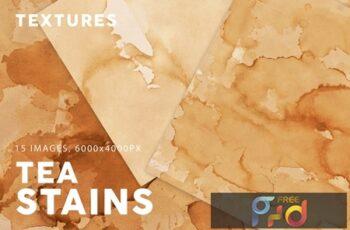 Tea Stains Paper Textures 4PRDVMK 4