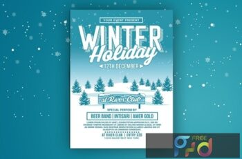 Winter Holiday Party Flyer 5PB4VWM 7