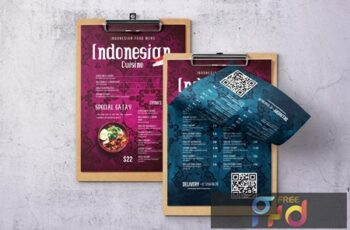 Indonesian Cuisine Single Page Menu QXANX49 2