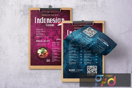 Indonesian Cuisine Single Page Menu QXANX49 1