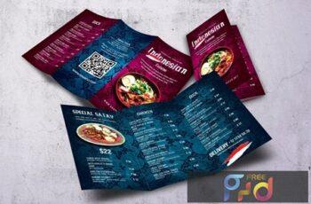 Indonesian Cuisine Trifold Menu HKTUVRL 3