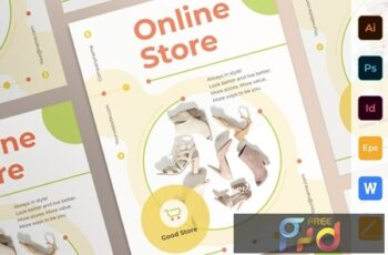 Online Store Poster Flyer Business Card Brochure Bifold Trifold T5QQYA3 3