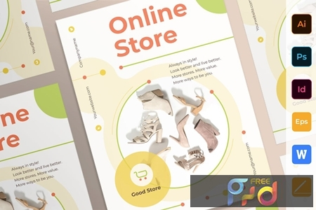Online Store Poster Flyer Business Card Brochure Bifold Trifold T5QQYA3 1