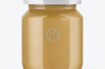 Clear Glass Baby Food Jar Mockup 50611 7