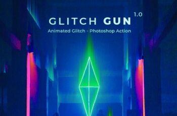 Glitch Gun - Animated Photoshop Action 24641366 2
