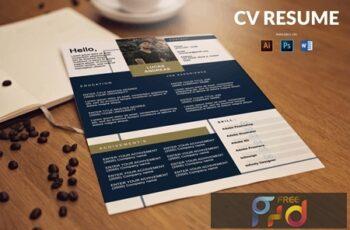 CV Resume Minimal And Clean 8VBBQVT 5