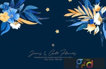 Jeans and Gold Flowers 4C7NFXC 4