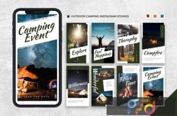 Instagram Story Template - Tavel Brush Design 37VEURL 3