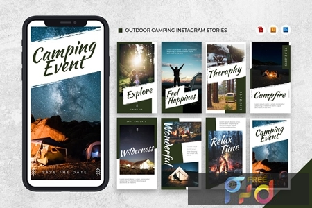 Outdoor Camping Instagram Stories AI and PSD 3DXDFGM 1