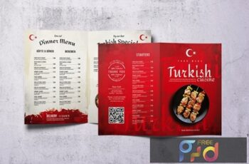 Turkish Cuisine Bifold A4 & US Letter Food Menu WGLGN5G 6