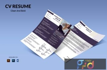 CV Resume Simple And Bold NLFZNGE 2