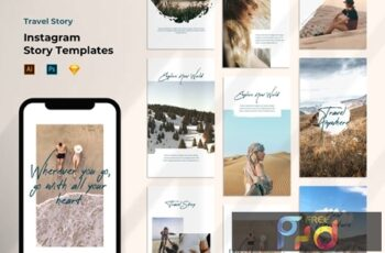 Instagram Story Template - Tavel Brush Design 37VEURL