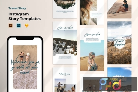 Instagram Story Template - Tavel Brush Design 37VEURL 1
