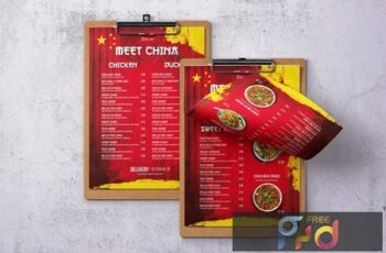 Chinese Cuisine Single Page A4 & US Letter Menu SQVRPLF 3