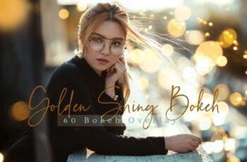 60 Golden Shiny Bokeh Lights Overlays 1996782 7