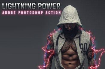 Lightning Power Photoshop Action 24774308 8