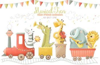 Musical Animals Tren Orchestra Clip Art 1996902 6