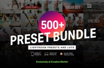 500+ Lightroom Presets & LUTs Bundle 4282364