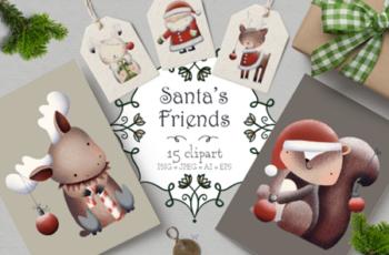 Santa's Friends Christmas Clipart 1997125 2