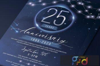 Stars Anniversary Invitation 8425MUS 12