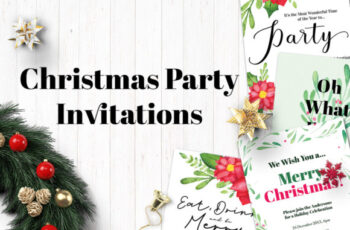Watercolor Christmas Party Invitations 1997290 2