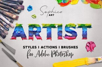 Artist Styles Actions Brushes Set 4286200 7