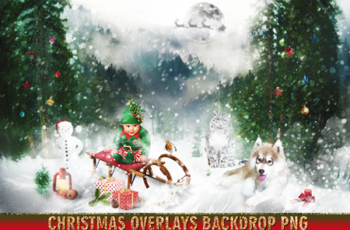150 Christmas Overlays Photoshop Clipart Bundle 6