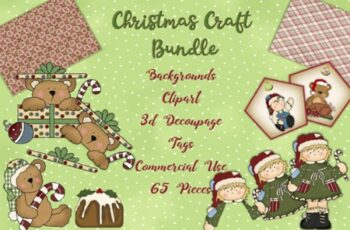 Christmas Clipart and Backgrounds Bundle 1993062 10