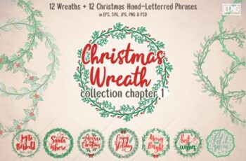 Christmas Wreaths and Phrases Ch. 1 1993018 6