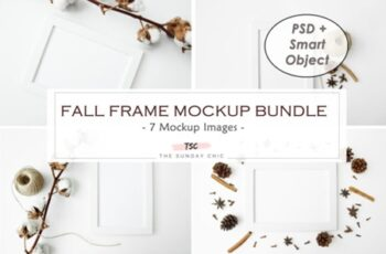 Fall Frame Mockup Bundle 1995649 5