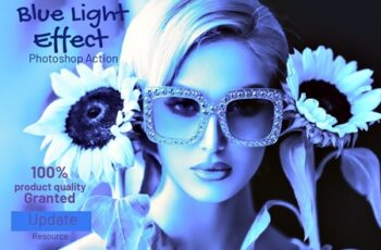 Blue Light Effect Photoshop Action 4100453 1