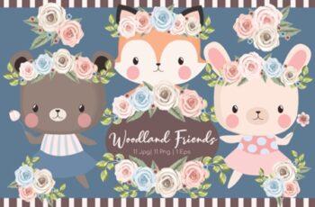 Woodland Friends Clipart Set 1992740 12