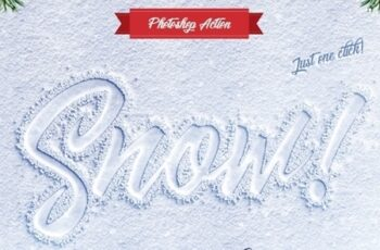 Snow Lettering - Photoshop Action 25062001 6