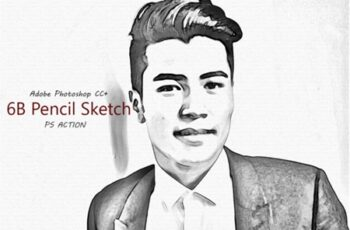 6B Pencil Sketch - Ps Action 2013681