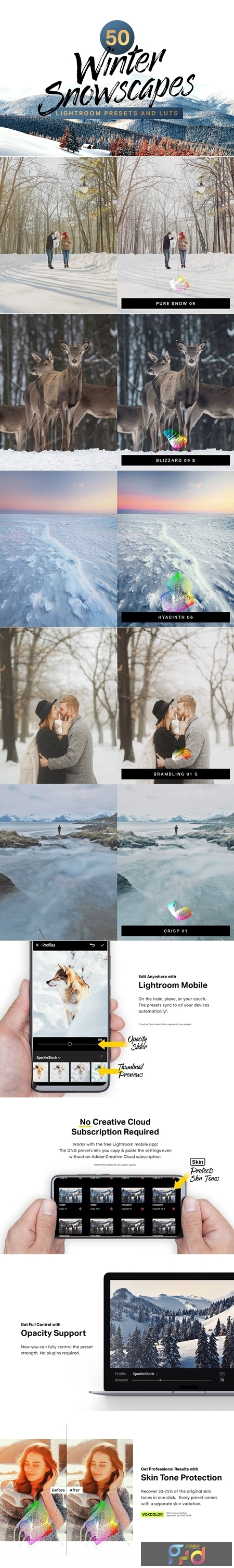 50 Winter Lightroom Presets and LUTs 4285934 1