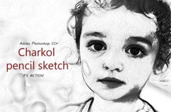 Charkol Pencil Sketch - Ps Action 2013676 7