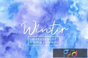 Winter Watercolor Backgrounds 4 A2L2WB8
