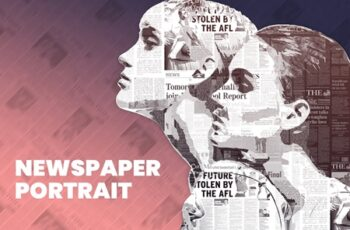 Newspaper Portrait PS Action 4232467 5