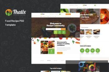 Thatix - Food Recipe PSD Template 4C67P7S 2