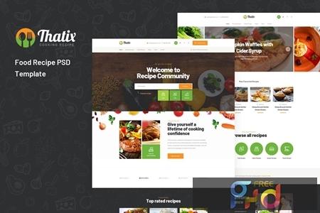 Thatix - Food Recipe PSD Template 4C67P7S 1