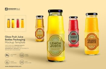 Fruit Juice Glass Container Mockup 4138030 5