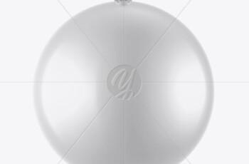 Glossy Christmas Ball Mockup 51604 4