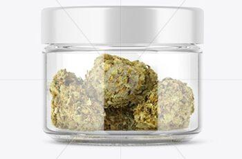 Weed Buds Jar Mockup 51613 12