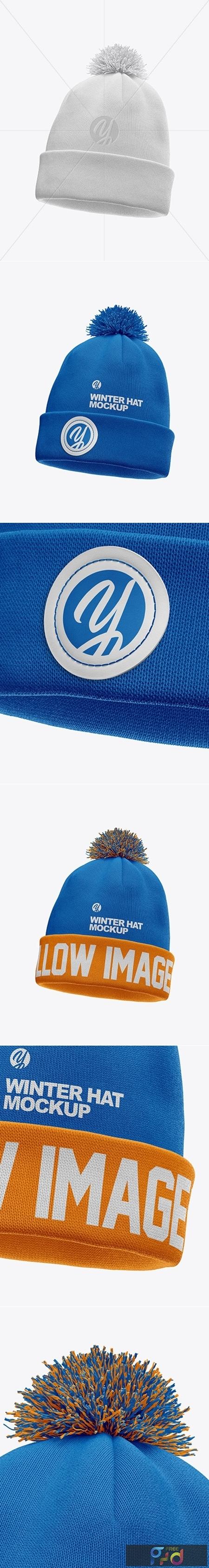 Winter Hat Mockup - Half Side View 51621 1