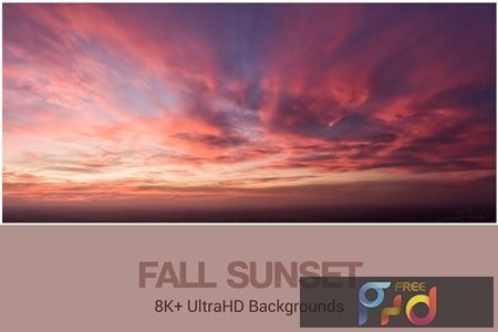 8K+ UltraHD Fall Sunset Backgrounds 2354QKU 1