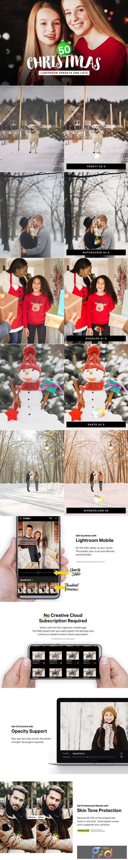 50 Christmas Lightroom Presets LUTs 4315283 1