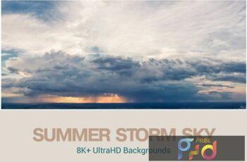 8K+ UltraHD Summer Storm Clouds Backgrounds 7HAS2KJ 3