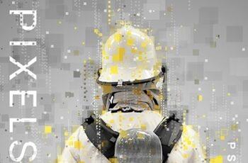 Pixels Poster Photoshop Action 25092041 6