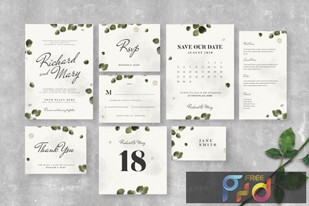 Leaves Wedding Invitation Suite 6LX87UR 1